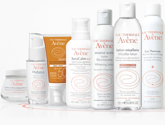 Differents Avène products